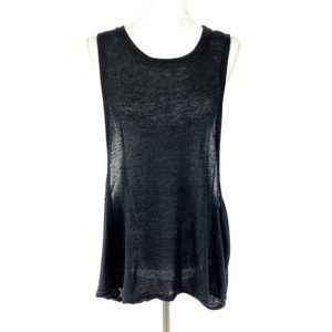 Free People Open Back Knit Sleeveless Top 3656